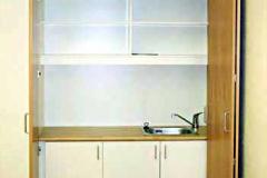 Einbauschrank mit integrierter Teeküche (AWO Kindergarten) - Buche lackiert
