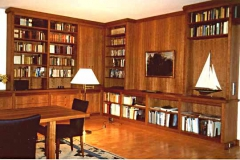 Wohnzimmerschränke und Wandpaneele - Kirschbaum geölt