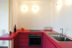 Einbauküche - rot lackiert