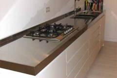 Einbauküche - Arbeitsplatte Edelstahl