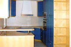 Einbauküche in Ahorn - Fronten lackiert
