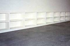10 Meter Bücherregal - MDF weiß lackiert