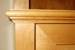 Regalwand mit integrierter Leinwand, Regal mit Schrank für Projektor - Erlenholz furniert