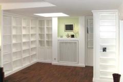 Bücherregal - weiß lackiert