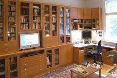 Bücherregal, PC-Arbeitsplatz - Kirschbaum