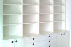 Regal - Eschenholz, weiß lackiert