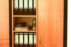 Büroschrank (PLM Dosenwerk) - Kirschbaum, schwarze Seiten lackiert