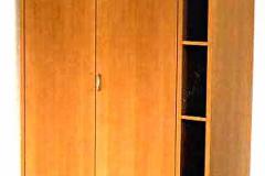 Büroschrank mit Regal (Immobiliengesellschaft) - Birnbaum, lackiert