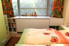 Schlafzimmerschränke, Bettumbauung, Heizkörperverkleidung, Regale - MDF lackiert