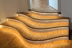 Treppe mit LED-Beleuchtung