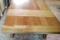 Massivholztisch mit Ansteckplatten - Eiche massiv