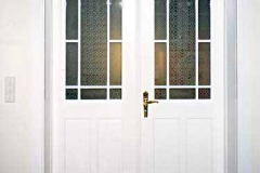 Rahmentür - Kiefer, weiß lackiert