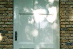 Hauseingangstür - weiß lackiert