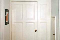 Wohnungseingangstür - Kiefer, weiß lackiert