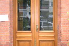 Eingangstür, zweiflügelig - Kiefernholz